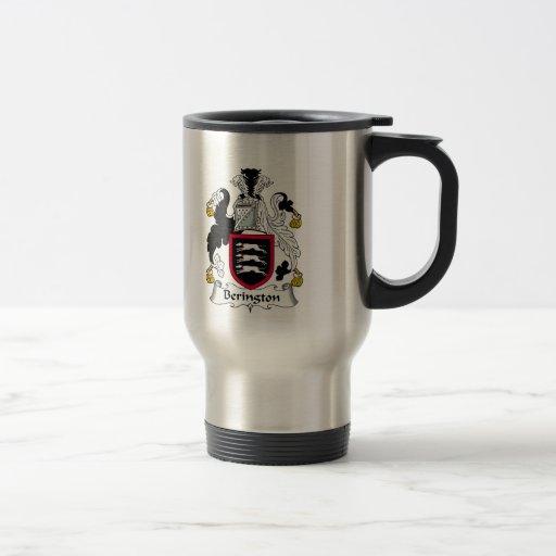 Escudo de la familia de Berington Tazas De Café