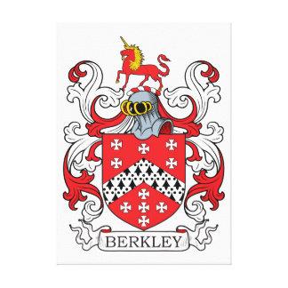 Escudo de la familia de Berkley Lienzo Envuelto Para Galerías