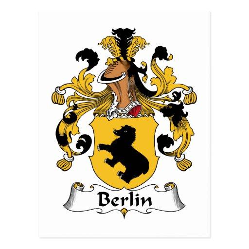 Escudo de la familia de Berlín Postal