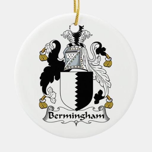 Escudo de la familia de Bermingham Adorno Redondo De Cerámica