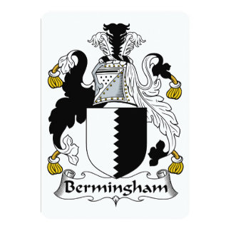 """Escudo de la familia de Bermingham Invitación 5"""" X 7"""""""