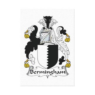 Escudo de la familia de Bermingham Impresion En Lona