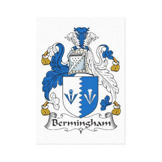Escudo de la familia de Bermingham Impresión De Lienzo