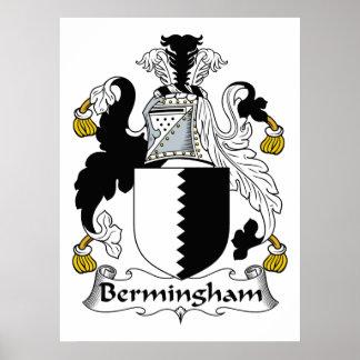 Escudo de la familia de Bermingham Posters