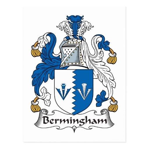 Escudo de la familia de Bermingham Postal