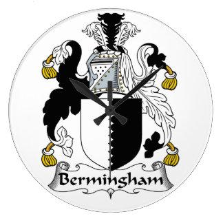 Escudo de la familia de Bermingham Reloj Redondo Grande