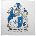 Escudo de la familia de Bermingham Servilleta De Papel