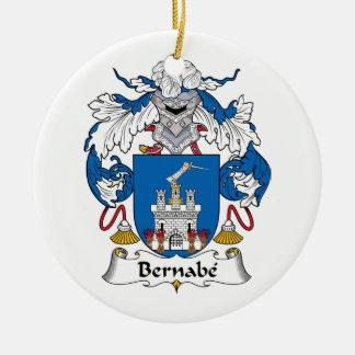 Escudo de la familia de Bernabe Ornaments Para Arbol De Navidad