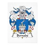 Escudo de la familia de Bernabe Invitacion Personalizada