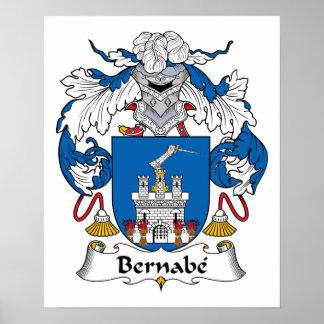 Escudo de la familia de Bernabe Poster