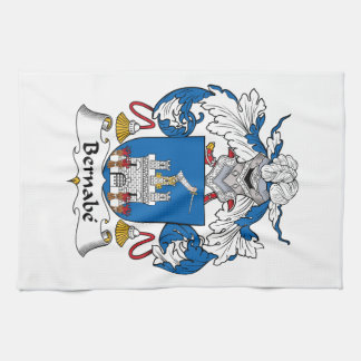Escudo de la familia de Bernabe Toalla De Cocina