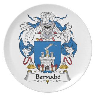 Escudo de la familia de Bernabe Platos Para Fiestas