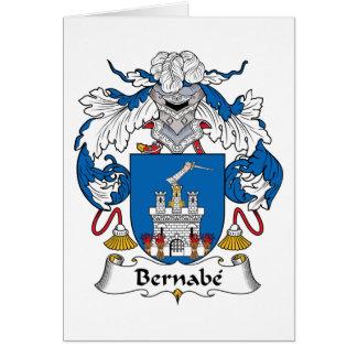 Escudo de la familia de Bernabe Tarjetas