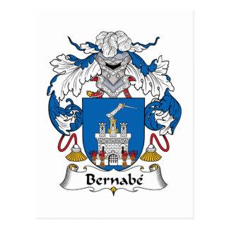 Escudo de la familia de Bernabe Tarjetas Postales
