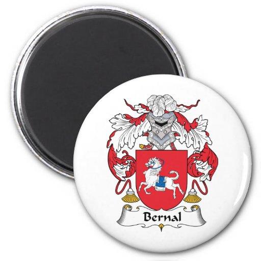 Escudo de la familia de Bernal Imán Redondo 5 Cm