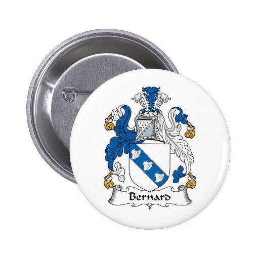 Escudo de la familia de Bernard Pin Redondo 5 Cm