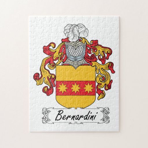 Escudo de la familia de Bernardini Rompecabezas Con Fotos