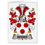 Escudo de la familia de Berner Tarjetón