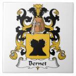 Escudo de la familia de Bernet Teja Cerámica