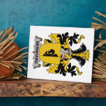 Escudo de la familia de Bernhard Placa De Madera