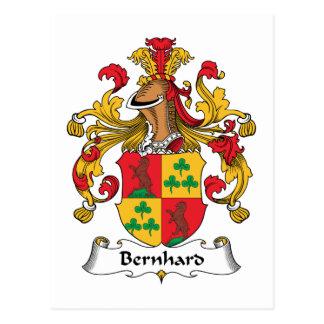 Escudo de la familia de Bernhard Tarjeta Postal