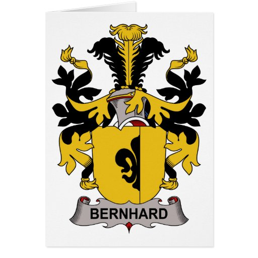 Escudo de la familia de Bernhard Tarjetón