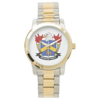 Escudo de la familia de Bernon Relojes De Pulsera