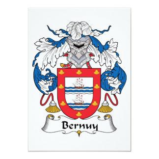 """Escudo de la familia de Bernuy Invitación 5"""" X 7"""""""
