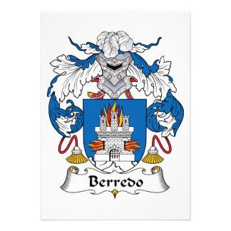 Escudo de la familia de Berredo Invitaciones Personalizada