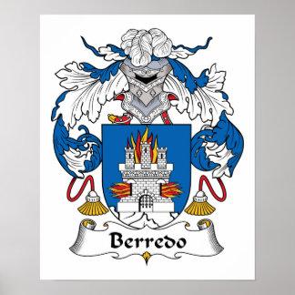 Escudo de la familia de Berredo Posters