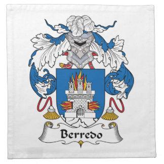 Escudo de la familia de Berredo Servilletas