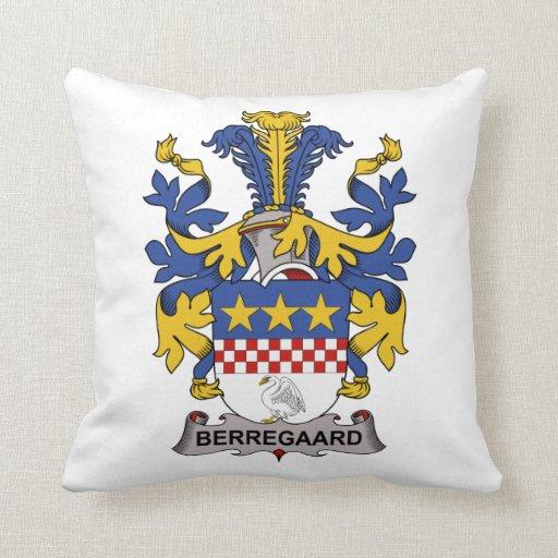 Escudo de la familia de Berregaard Almohadas