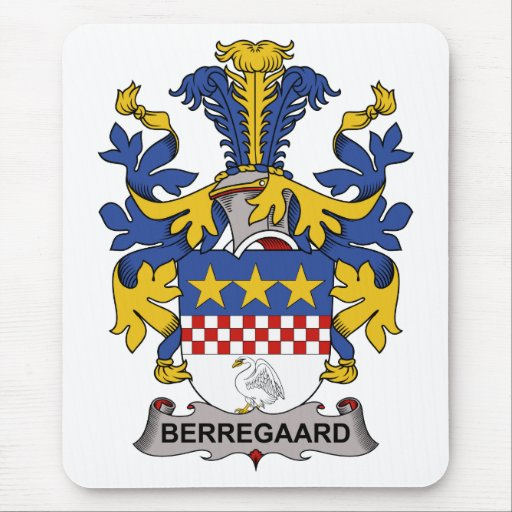 Escudo de la familia de Berregaard Alfombrilla De Raton