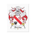 Escudo de la familia de Berrios Lona Envuelta Para Galerías