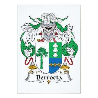 """Escudo de la familia de Berroeta Invitación 5"""" X 7"""""""