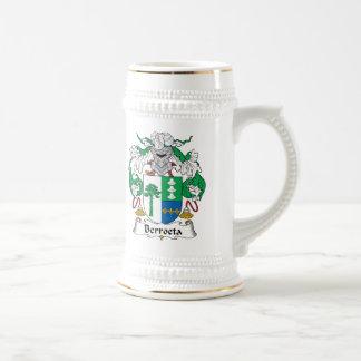 Escudo de la familia de Berroeta Jarra De Cerveza