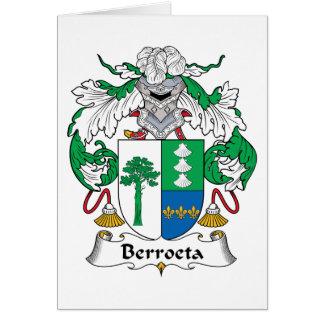 Escudo de la familia de Berroeta Felicitación