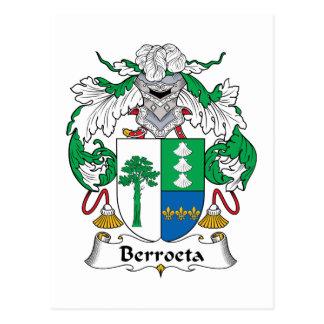 Escudo de la familia de Berroeta Postal