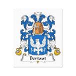 Escudo de la familia de Bertaut Impresión De Lienzo
