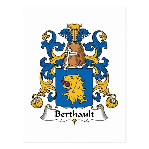 Escudo de la familia de Berthault Postal