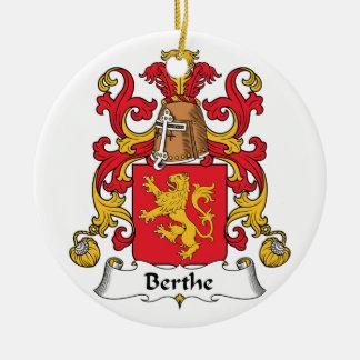Escudo de la familia de Berthe Adorno Navideño Redondo De Cerámica