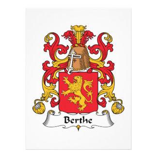 Escudo de la familia de Berthe Comunicado Personal