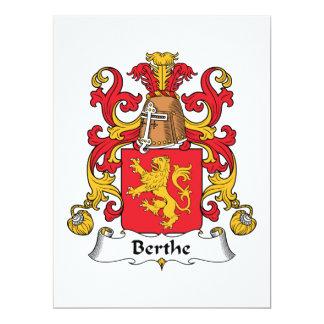"""Escudo de la familia de Berthe Invitación 6.5"""" X 8.75"""""""