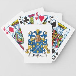 Escudo de la familia de Berthier Baraja Cartas De Poker