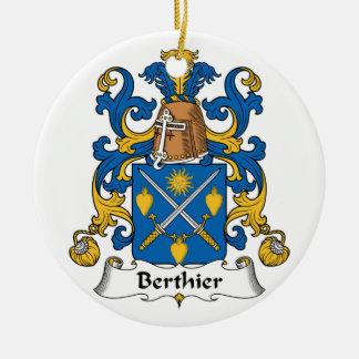 Escudo de la familia de Berthier Ornamentos De Navidad