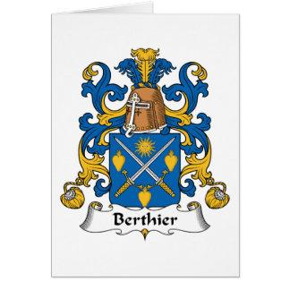 Escudo de la familia de Berthier Felicitación