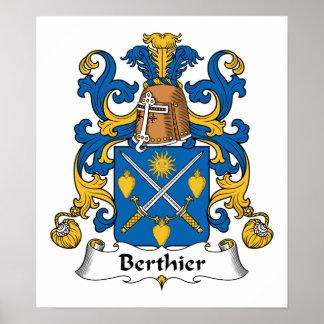 Escudo de la familia de Berthier Impresiones
