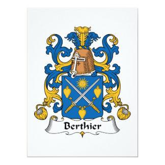 Escudo de la familia de Berthier Invitación 16,5 X 22,2 Cm
