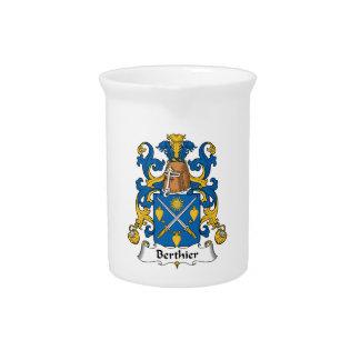 Escudo de la familia de Berthier Jarra Para Bebida