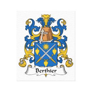 Escudo de la familia de Berthier Impresiones En Lona Estiradas
